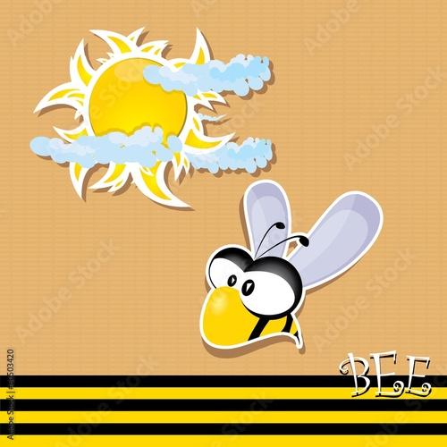 Canvas Prints Dinosaurs vector bee icon. vector summer illustration.