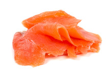 Smoked Salmon Slices Isolated ...
