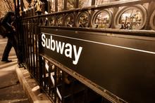 Vintage Style Subway Entrance,...