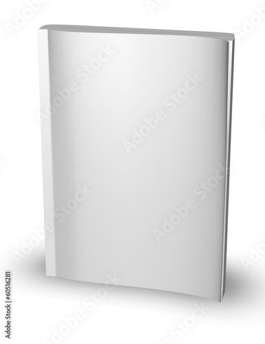 3d empty paper magazine, diary template standing - Buy this stock ...