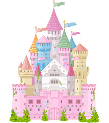 fototapeta kolorowy zamek