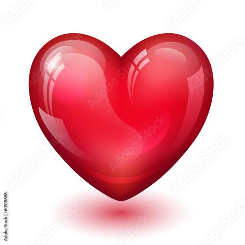 Fotografie, Obraz  glossy red heart