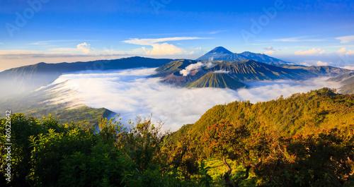 Foto op Aluminium Indonesië Panorama of Bromo volcano at sunrise, East Java, Indonesia