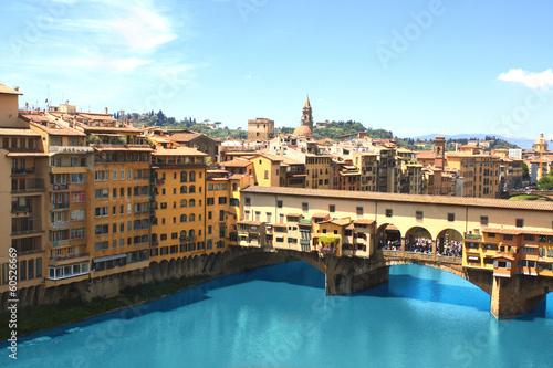Aluminium Prints Florence View of Ponte Vecchio, Florence