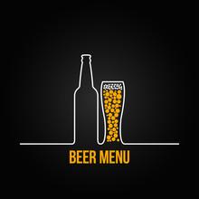 Beer Bottle Glass Deign Backgr...
