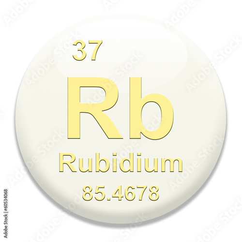 Periodic Table Rb Rubidium Buy This Stock Illustration And Explore