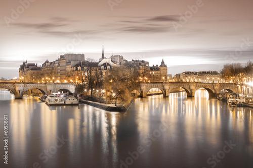 Poster Paris ïle saint-louis Paris Seine