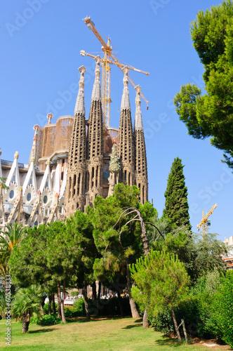 Papiers peints Barcelona Sagrada Família in Barcelona, Spain