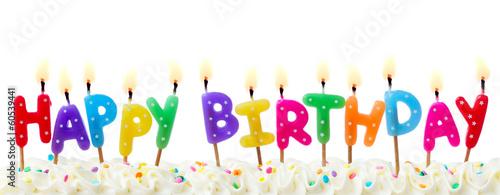 Photo  Birthday cake candles