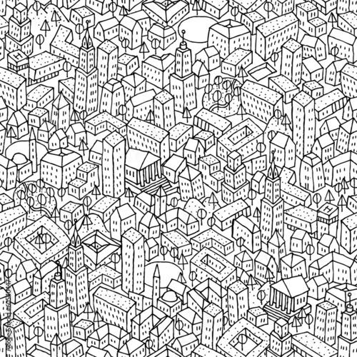 minimalistyczne-tlo-miasto-rysowane-delikatnymi-liniami
