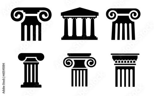 Fotografie, Obraz  column icons