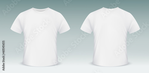 Fotomural  Blank t-shirt template. Front and back side