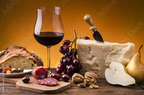 still life con alimenti gastronomici