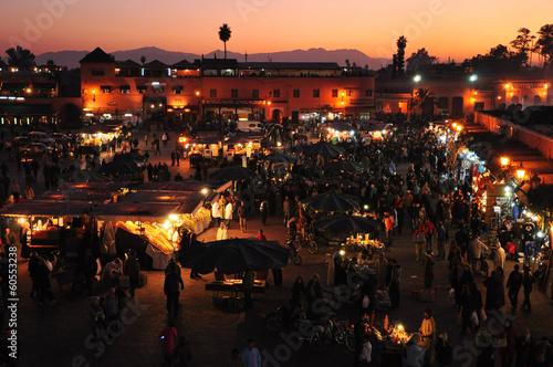 Recess Fitting Morocco Sunset at Jamaa el-Fna Square