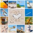 Leinwandbild Motiv Collage mit Ostsee-Motiven