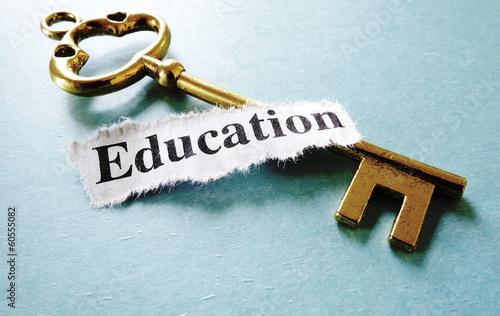 Obraz na plátne education key