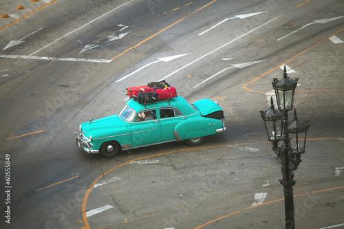 HAVANA, CUBA - JUNE 26: Vintage cars on the streets of Havana, J Canvas Print