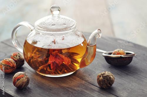 Chinese flowering tea Canvas Print