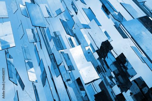 fototapeta na drzwi i meble Abstrakcyjna niebieskie tło powyżej lustra nieba
