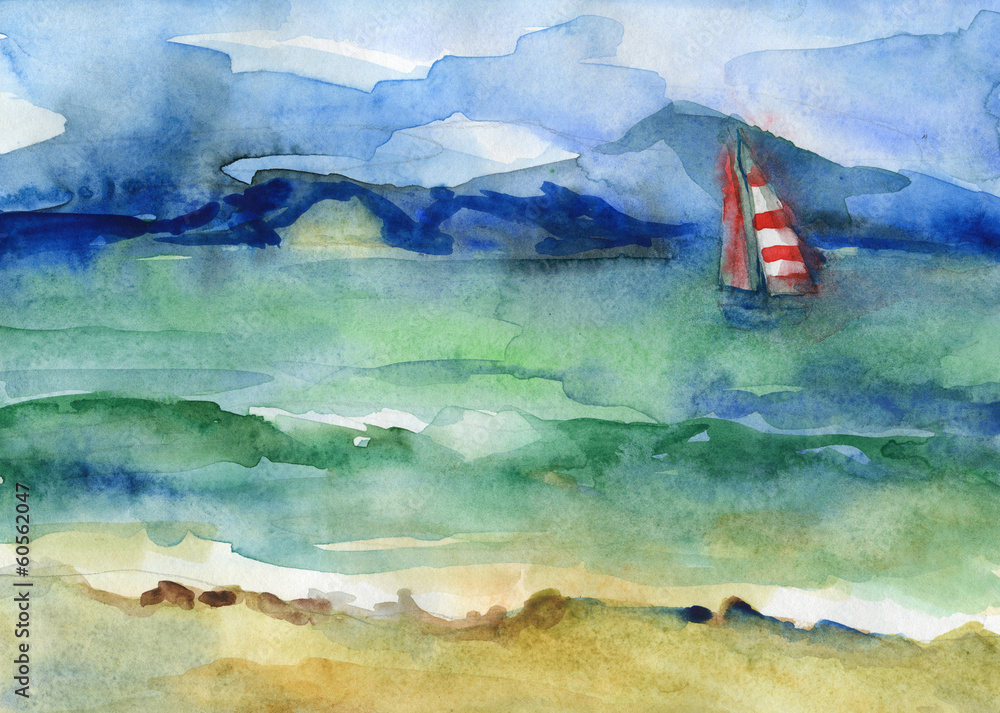 Water and sail