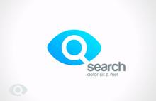 Logo Search Engine Service Design. Searching Eye