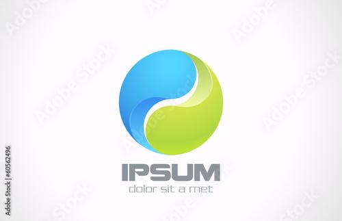 Fotografie, Obraz  Logo Sphere abstract design. Green technology business