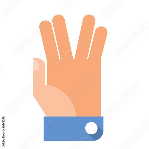 Flat Hand Gesture фототапет