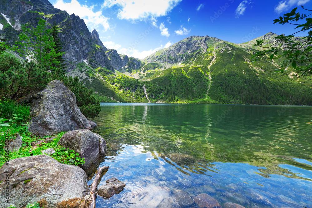 Oko Denny jezioro w Tatrzańskich górach, Polska