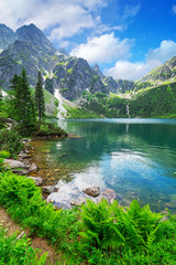 Obraz na PlexiEye of the Sea lake in Tatra mountains, Poland