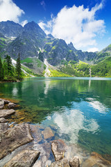 Fototapeta Góry Eye of the Sea lake in Tatra mountains, Poland