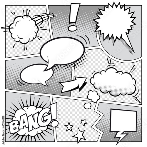 Fototapety komiks   strona-komiksu