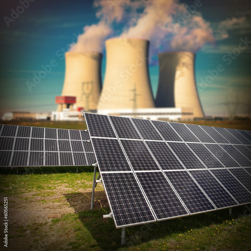 nuclear power vs fossil fueled plants