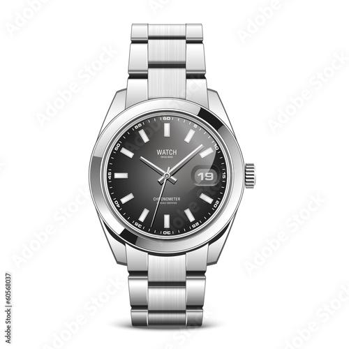 Fotografie, Obraz  Montre bracelet métal