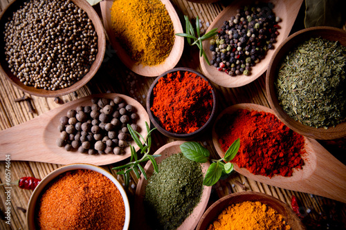 Assorted spices Tablou Canvas