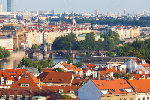 Wall Murals Prague View of the historical districts of Prague
