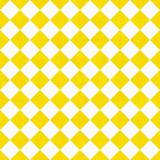 Żółte i białe diagonalne warcaby na teksturowanej tkanina tło - 60577446