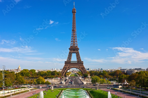Foto op Canvas Parijs Eiffel Tower in Paris