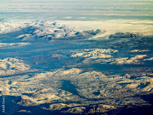 Papiers peints Arctique aerial view of greenland ice sheet