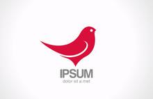Logo Bird Sitting Abstract Vec...