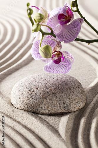 Foto op Plexiglas Stenen in het Zand ambiance for spa and massage with zen design