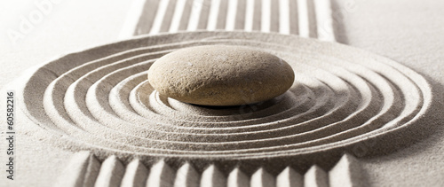 mineral garden for contemplation and steadiness Fototapete