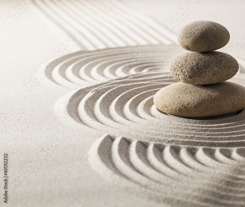 Acrylic Prints Stones in Sand zen stillness and wellness with sand and stones garden