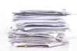 canvas print picture - Piled up office work papers