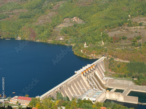 Photo sur Toile Barrage hydroelectric power station
