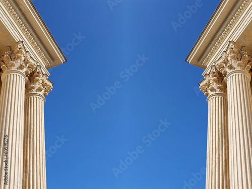 Fotografering décor architecture corinthienne
