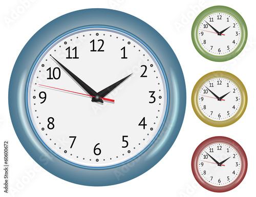 Foto op Canvas Sprookjeswereld Set of wall mechanical clocks.