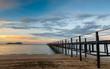 Wooden Pier , Tropical Island, Thailand