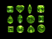 Group Of Peridot With Clipping...
