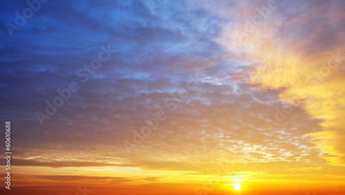 obraz dibond Tylko niebo zachód słońca
