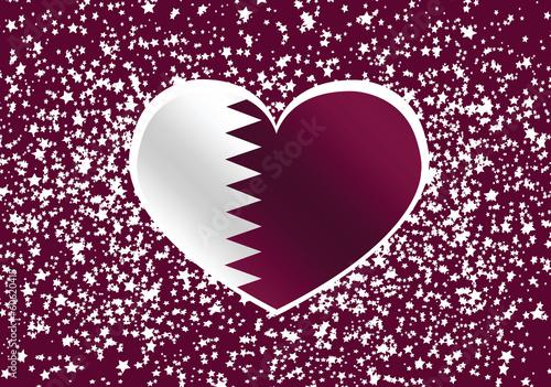 Fototapete - Qatar Flag themes idea design
